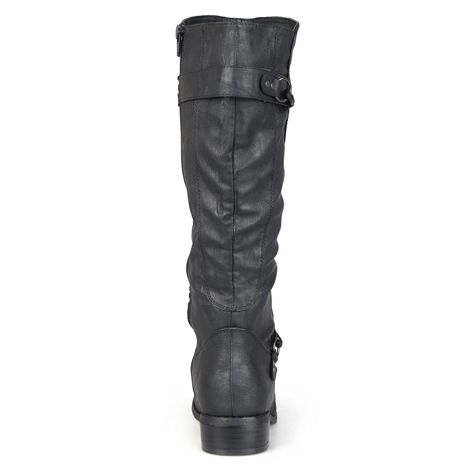 20e9fa6f2 Amazon.com | Journee Collection Womens Regular Sized and Wide-Calf Ankle-Strap  Buckle Knee-High Riding Boot | Knee-High