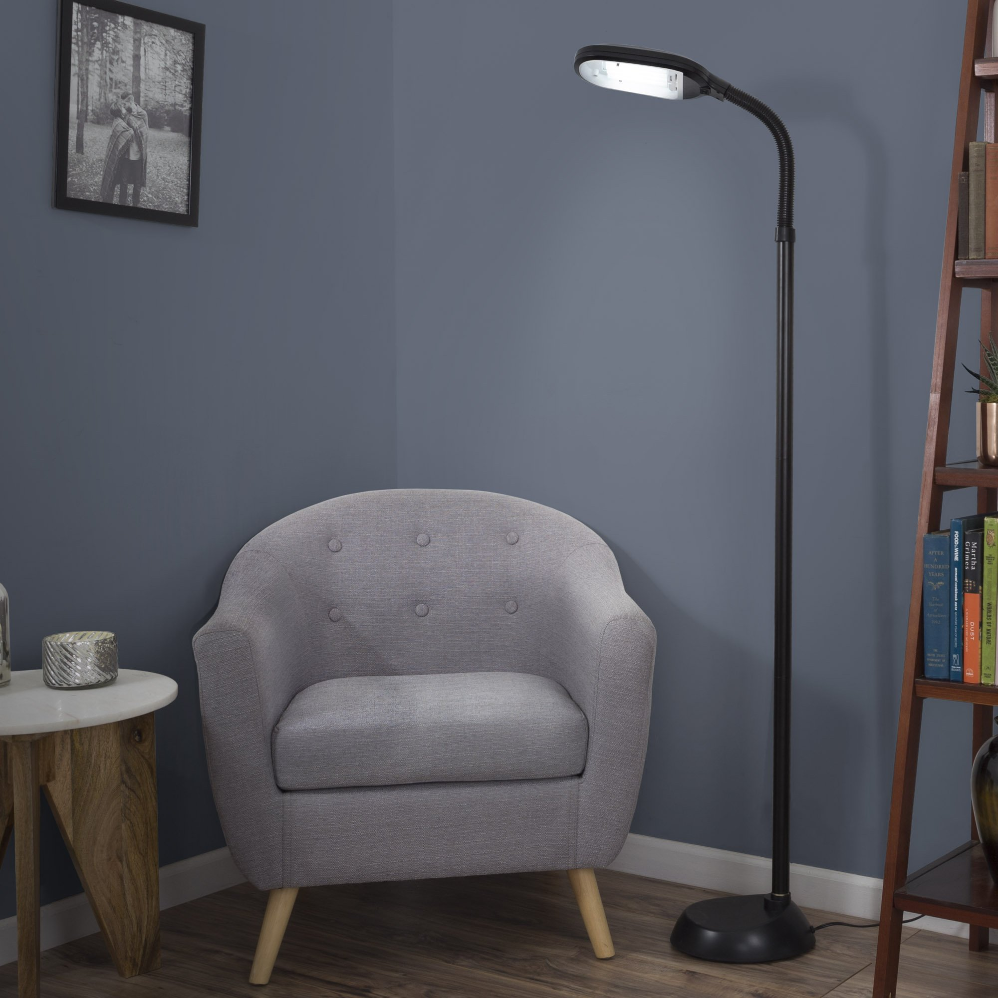 Lavish Home (72-0890) 5 Feet Sunlight Floor Lamp With Adjustable Gooseneck - Black by Lavish Home (Image #4)