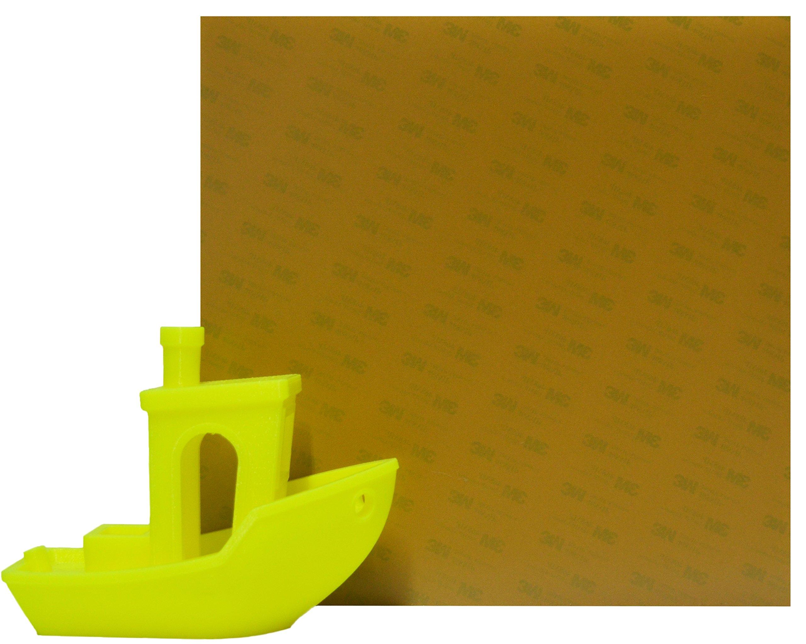 Prozix Amber PEI Sheet 3D Printer Build Surface 220mm x 220mm Ultem 1000 Build Surface for Anet A8, Anet A6, Reprap Prusa 13