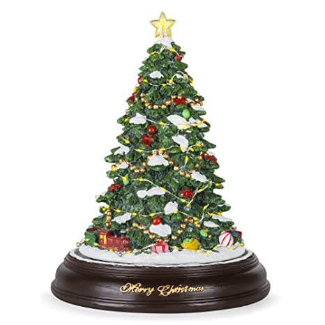 Pre Lit Rotating Christmas Tree.Best Choice Products Pre Lit Tabletop Rotating Musical Christmas Tree Holiday Decoration W 9 Songs Green