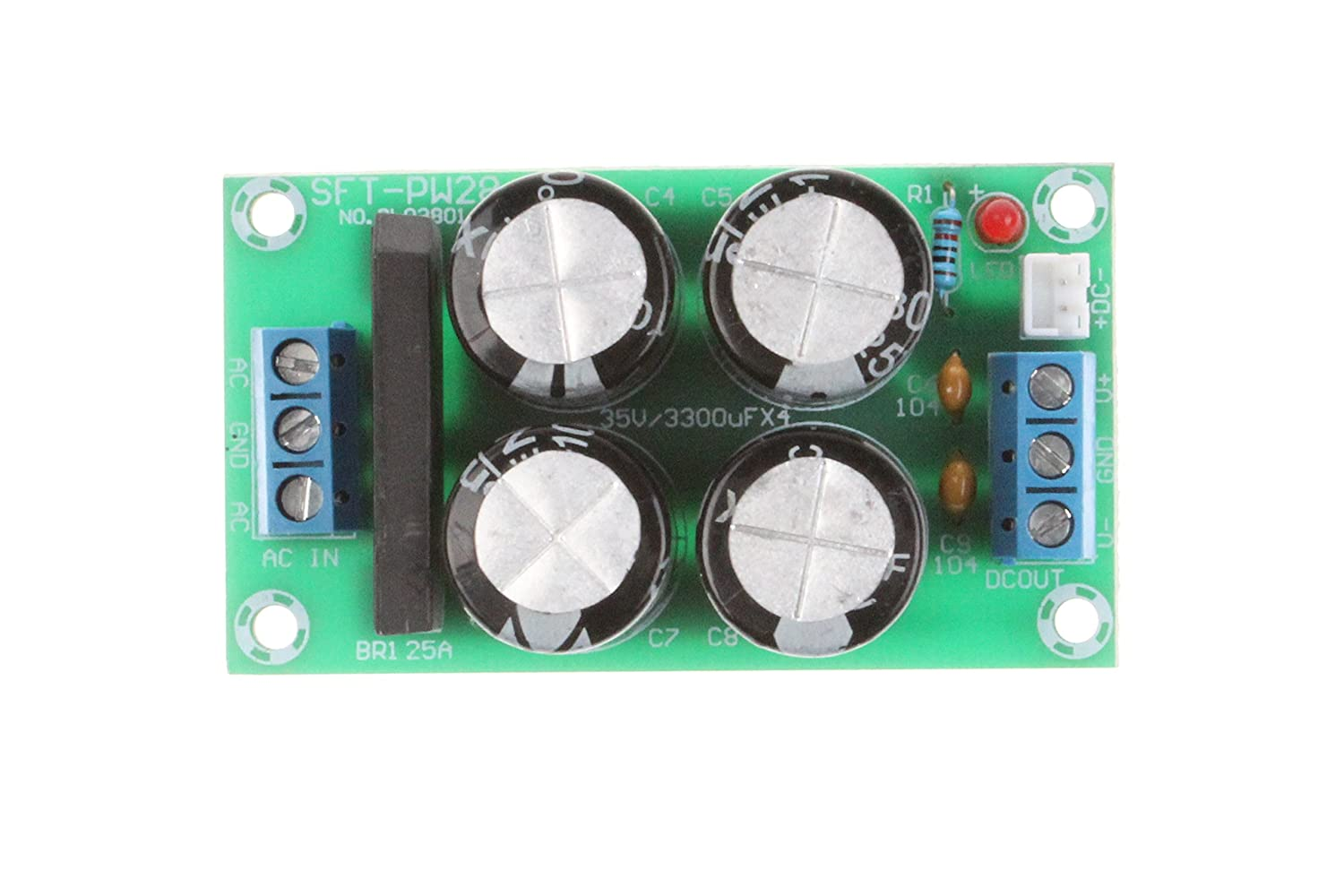Noyito 25a Dual Power Rectifier Filter Board Ac 9 17v Voltage Regulator Modulein Integrated Circuits Dc 12 24v Amplifier Supply Suitable For Lm1875 Tda2030