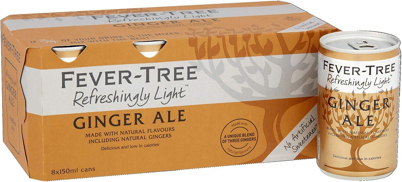 Fever-Tree Refreshingly Light Ginger Ale, 8 x 150ml: Amazon ...