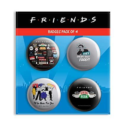 Buy MC SID RAZZ Friends TV Series Combo Pack Of 4 Round Badges