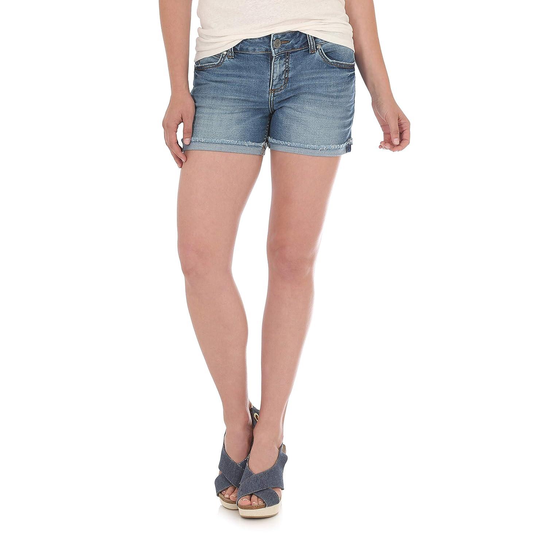 Wrangler Womens Retro Mae Mid Rise Stretch Jean Short Denim Shorts