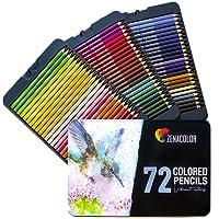 ⭐72 Crayons de Couleur (Numerotes) avec Boite Metallique - Cadeau Ideal Artiste