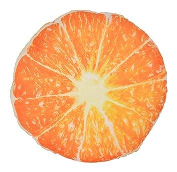 Deals India Plush Fruit Pillow - Orange