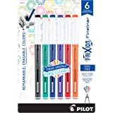 PILOT FriXion Fineliner Erasable Marker Pens, Fine Point, Assorted Classic Color Inks, 6-Pack (12414) (072838124142)