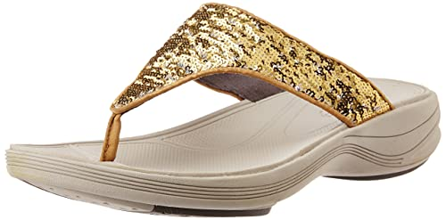 ff2641b3ef4473 Clarks Women s Walk Flash Gold Slippers -7UK India (41EU)(CK-210 ...
