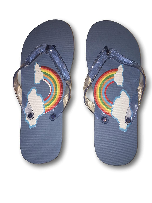 Royal Deluxe Unicorn /& Rainbows Flip Flops for Girls