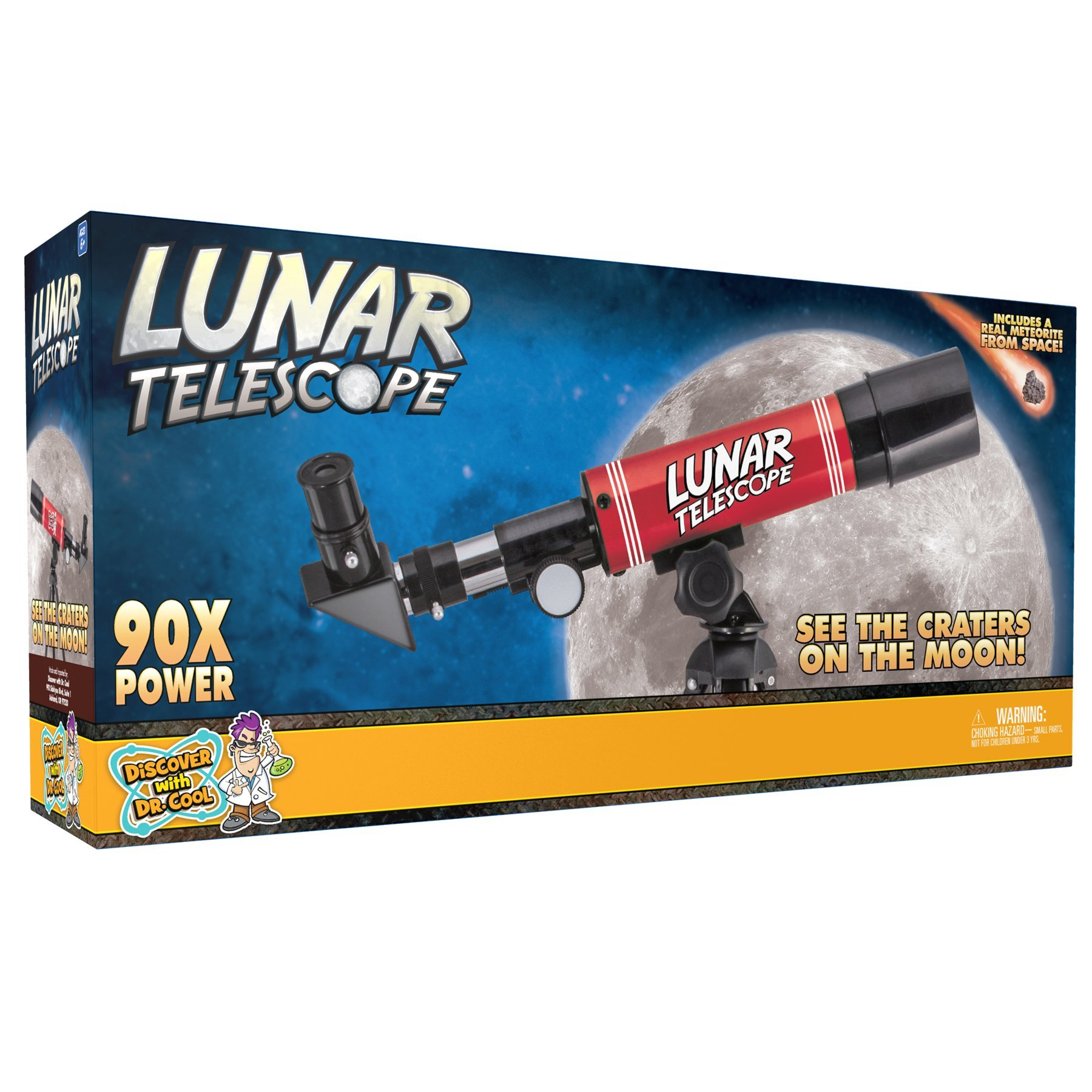 Discover with Dr. Cool Lunar Telescope for Kids – Explore The Moon and its Craters