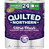 Quilted Northern Ultra Plush Toilet Paper, 12 Double Rolls, 12 = 24 Regular Rolls, 3 Ply Bath Tissue