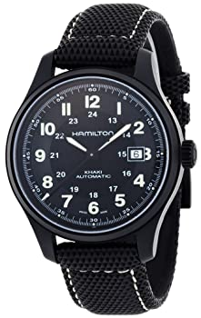 Hamilton Khaki Field Black Waterproof Watch
