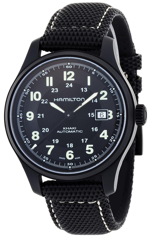 Hamilton Men s HML-H70575733 Khaki Field Black Dial Watch