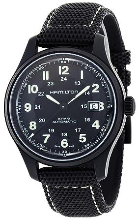 e5fb2c8b9 Image Unavailable. Image not available for. Color: Hamilton Men's  HML-H70575733 Khaki Field Black Dial Watch
