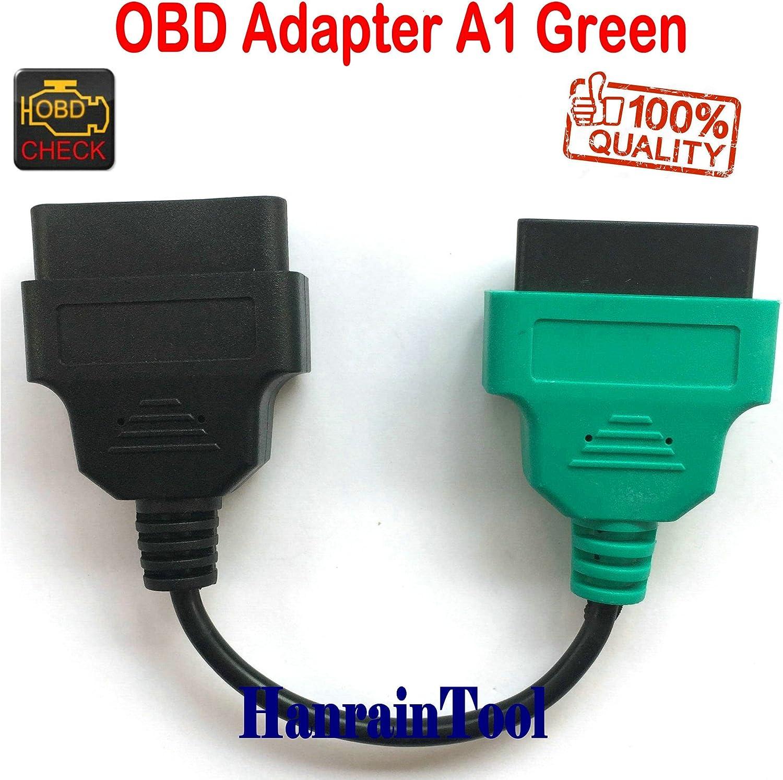 Cavo adattatore OBD 1 A1 verde per diagnostica veicoli sterzo ABS e Xenon serie Italy Car Vehicles