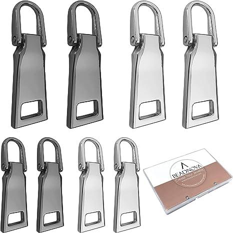 Metal Hook Thin Enough to Attach to Almost Any Zipper LI/&HI Paracord Zipper Pulls 4 Pack Black