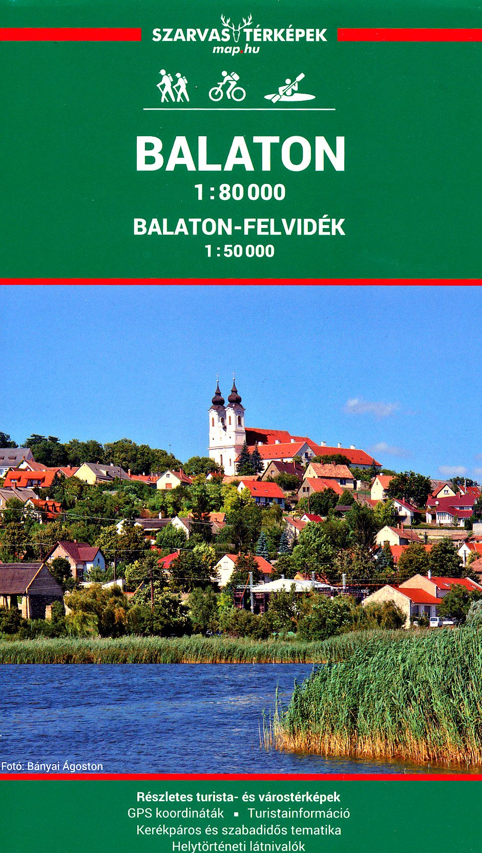 Balaton Lake Hungary 1 80 000 Recreation Map Szarvas