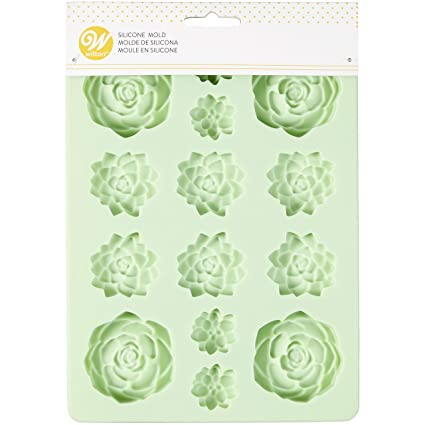 Amazon Com Succulents Silicone Candy Mold By Wilton Kitchen Dining