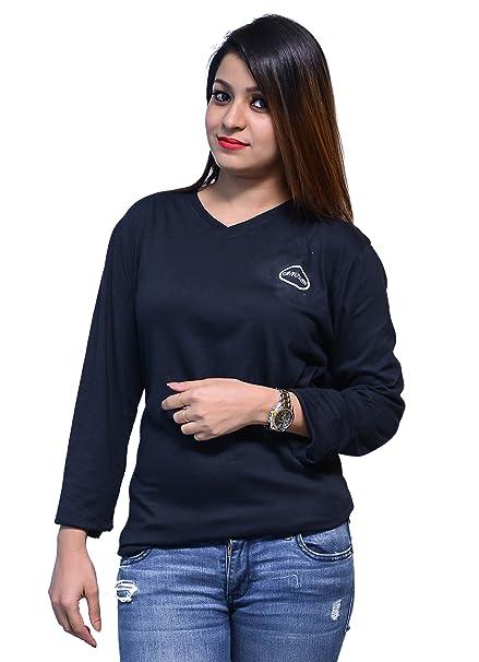 d4258c22102ba9 Chauhan Black Full Sleeve T-Shirt for Girl
