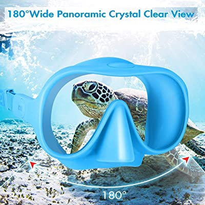 Panoramic Tempered Glass Scuba Diving Mask Anti-Leak Snorkeling Gear for Adults CHYBFU Adult Snorkel Set Free Breathing /& Easy Adjustable Strap Anti-Fog Snorkeling Package Sets for Women and Men