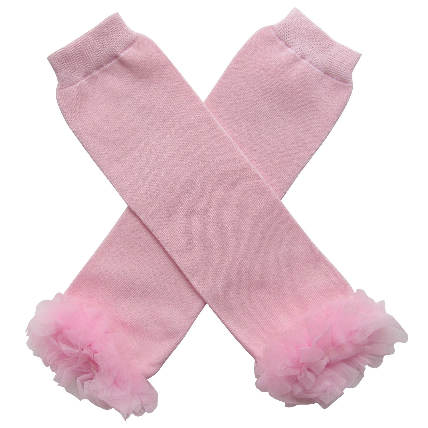 So Sydney Baby Toddler Little Girl Chiffon Ruffle Tutu Leg Warmers Super Solids