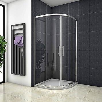 90 x 90 x 185 cm Mampara de ducha redonda ducha cuarto circular (Puerta de ducha con al nano-recubrimiento (NS7 – 90E): Amazon.es: Bricolaje y herramientas