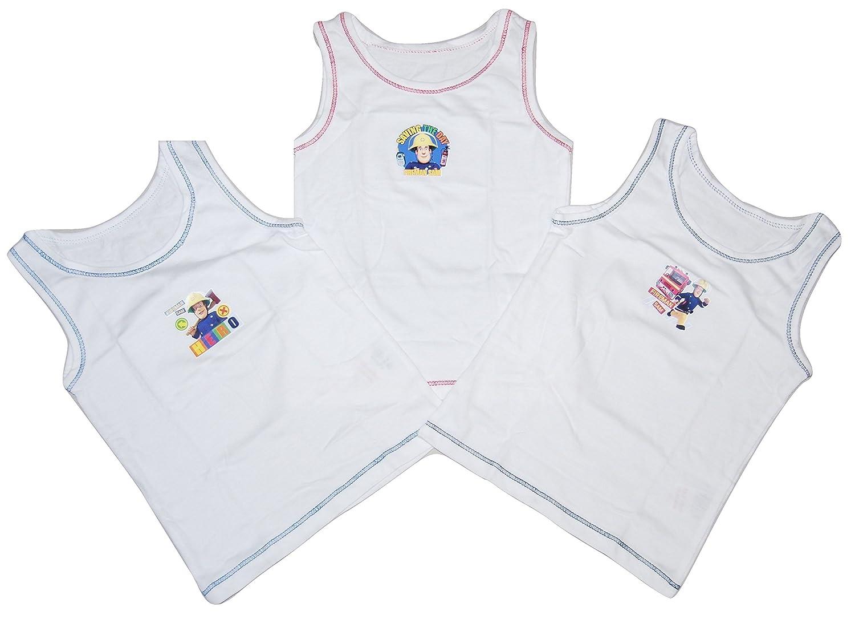 M /& O clothing Boys 3 Pack Vest Tops Fireman Sam