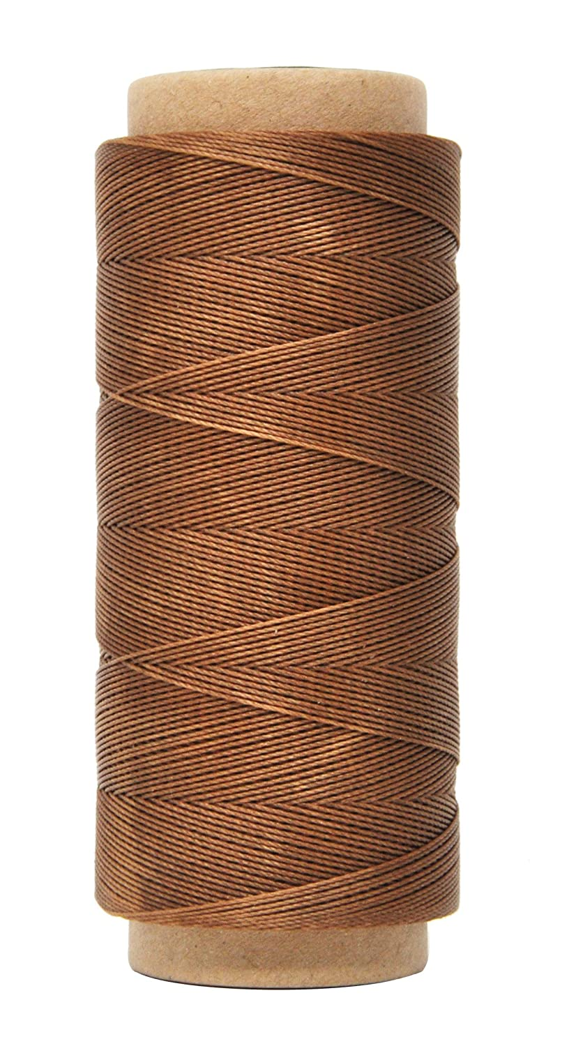 Mandala Crafts 0.45mm Leather Sewing Hand Stitching Jewelry Craft Round Waxed Thread String Cord (0.45mm, Natural)