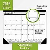 "AT-A-GLANCE 2019 Desk Calendar, Desk Pad, 21-3/4"" x 17"", Standard, Ruled Blocks"