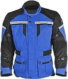 Pilot Men's Trans.Urban Motorcycle Touring Jacket (Blue/Black, Medium)