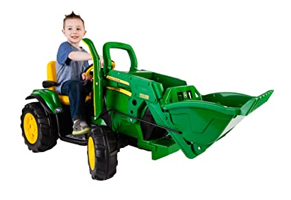 Peg Perego Ride On Toys >> Amazon Com Peg Perego John Deere Ground Loader Ride On Green Toys