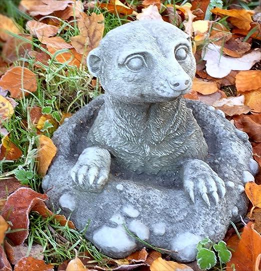 Antikas - suricata de piedra decoración de jardín - figuras de animal jardín resistente a la intemperie - animales decoración césped: Amazon.es: Jardín