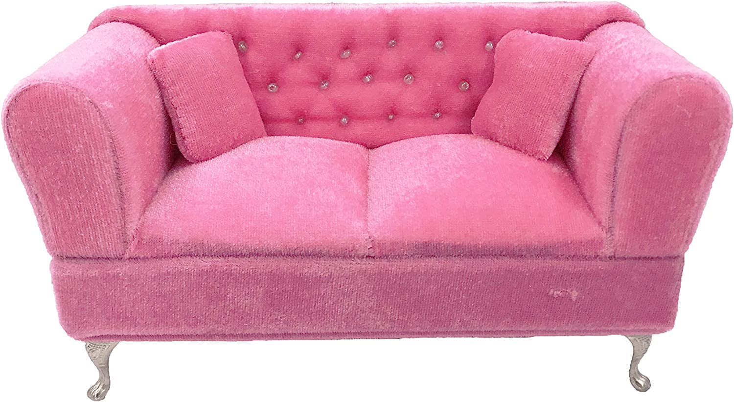 Rose Pink Jewelry Storage Organizer Flip Open Compartments Birthday Gift for Her Twenis 1//6 Dollhouse Fancy Couch Sofa