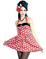 Hell Bunny Doris Big Polka Dot Mini Dress Black & Red, Red & White, Black & White