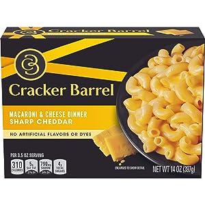 Cracker Barrel Macaroni & Cheese, Sharp Cheddar, 14 oz
