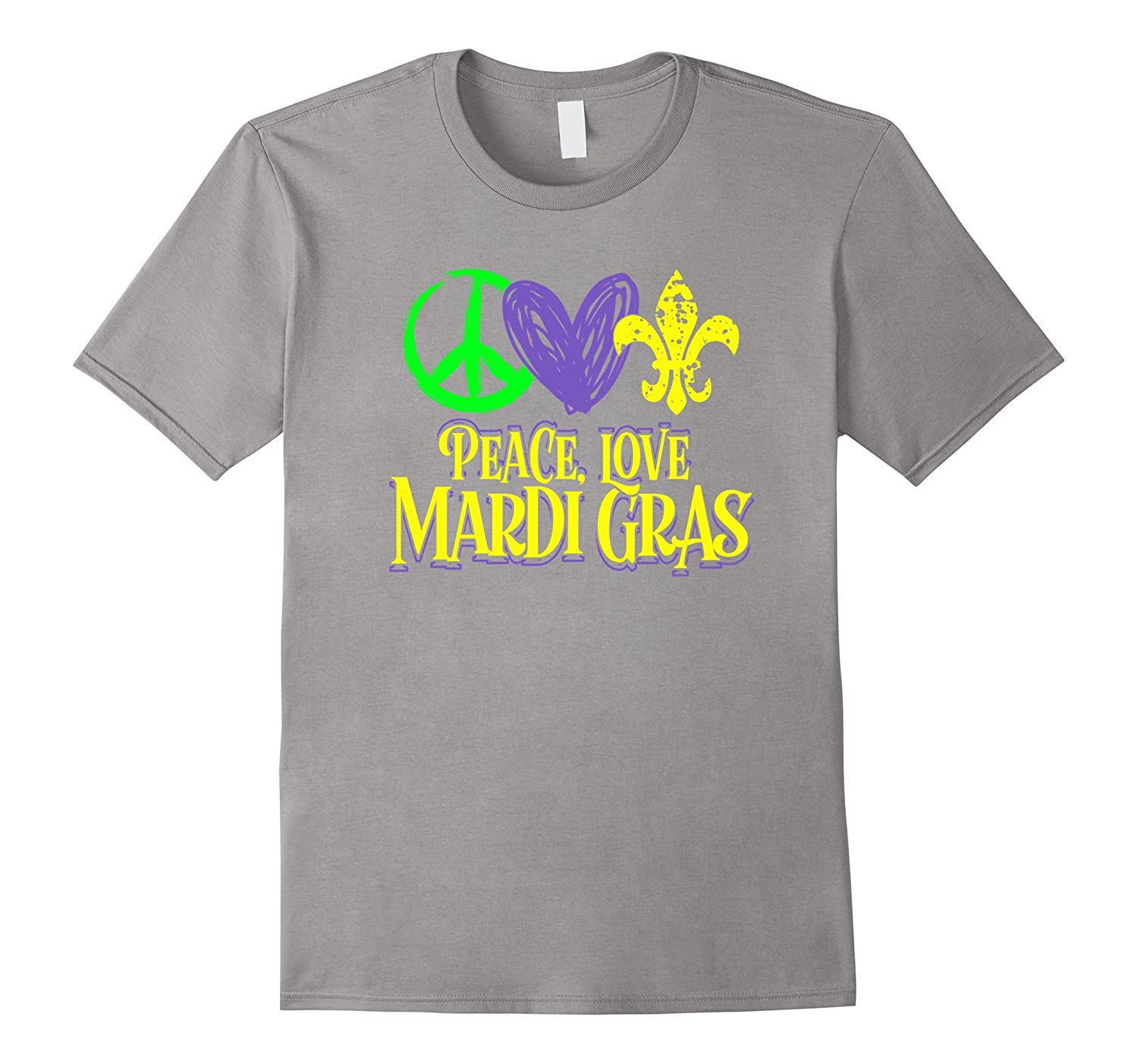 Peace Love and Mardi Gras Party T-Shirt-TD