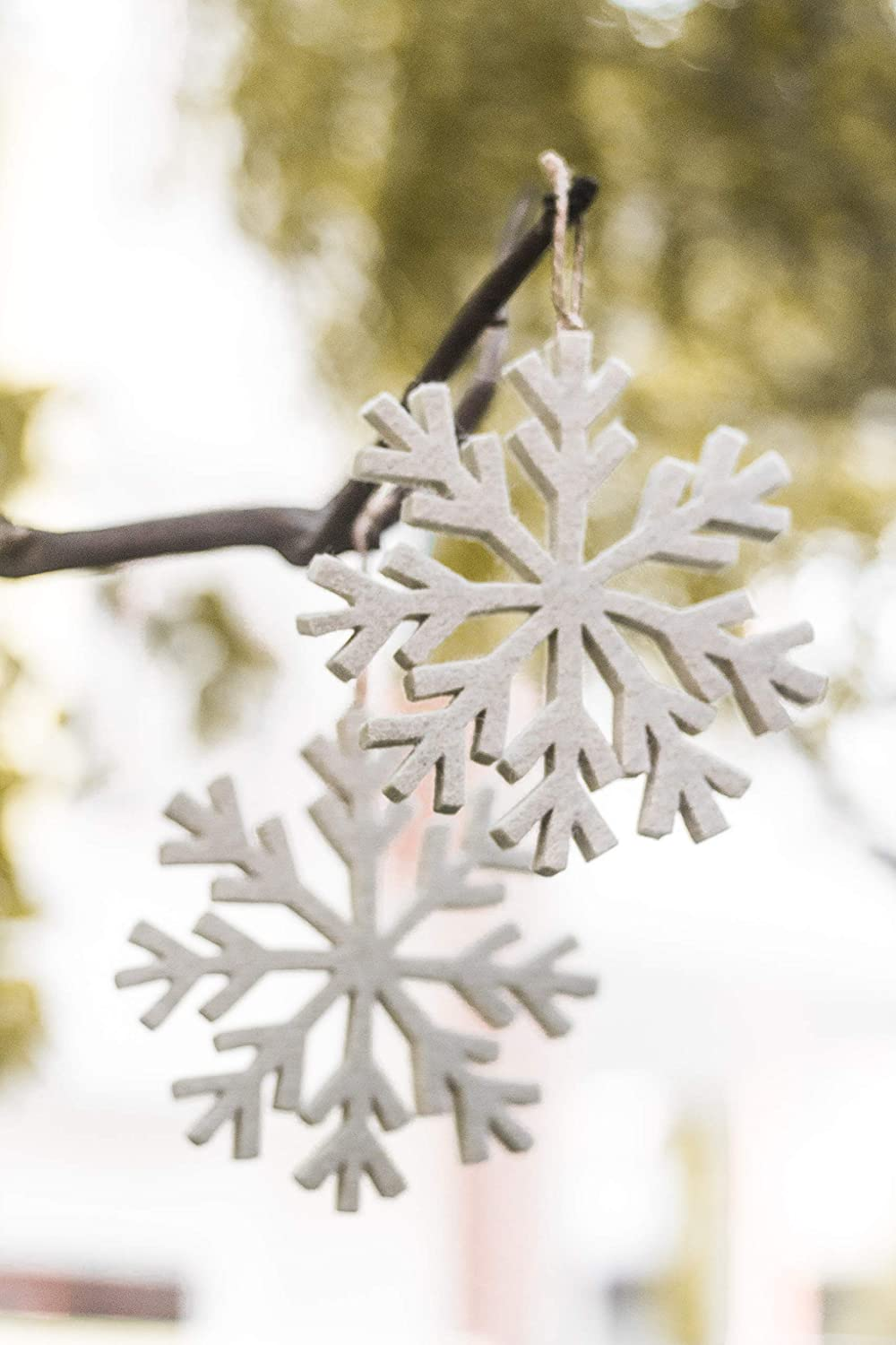LWH De Kulture Hand Made Showpiece Hanging Felt Snowflake Ornament 5x5x5 Home Decoration Party Decorative Office Decor Ideal Year Birthday Christmas Decoration Easter Gift