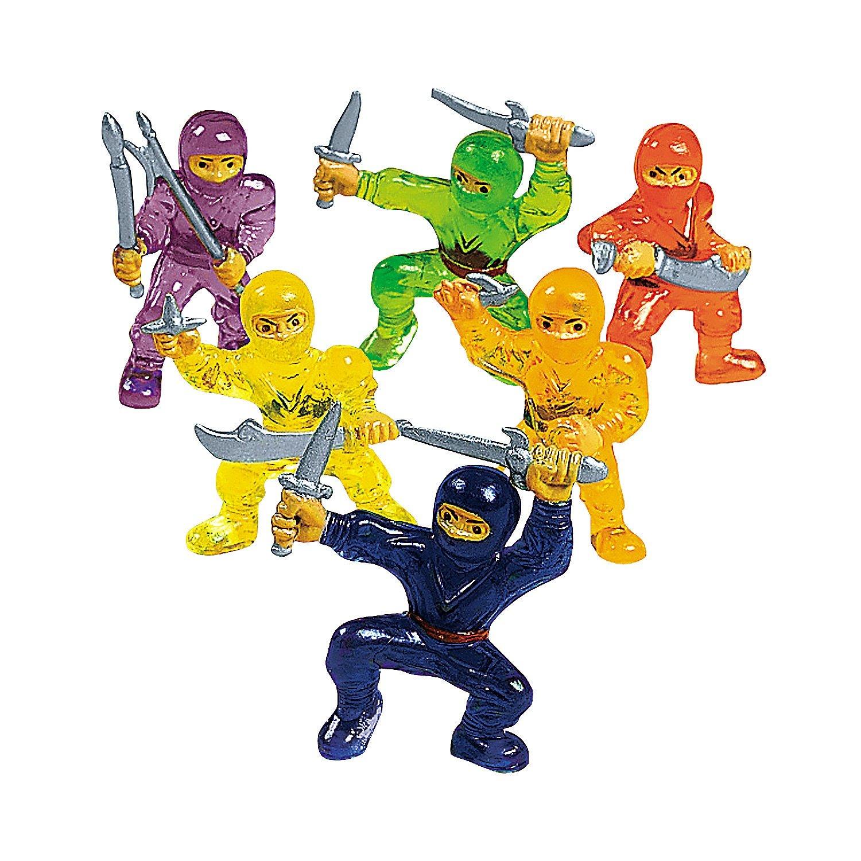 Toy Ninja Warriors 4-Pack of 48 Fun Express RIN