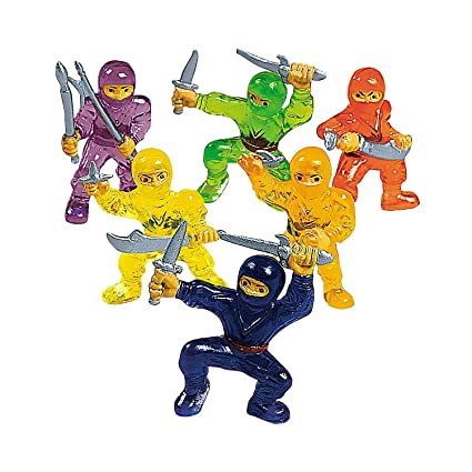 Fun Express Vinyl Ninja Warrior Toys - 48 Pieces: Amazon.es ...