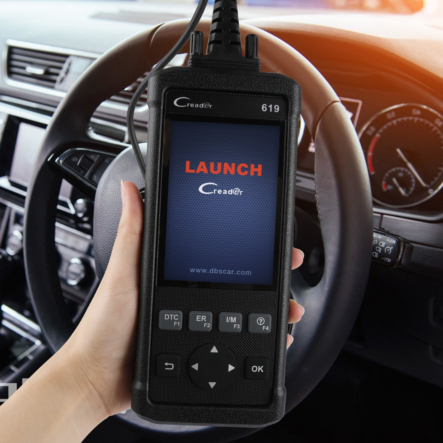 Launch Creader CR619 Automotive ABS SRS Diagnostic Scan Tool Auto Obd ii OBD2 Scanner Car Code Reader Check Engine SRS ABS Airbag Light Fault Code Reader with EVAP O2 On-board Monitor Test by LAUNCH (Image #8)