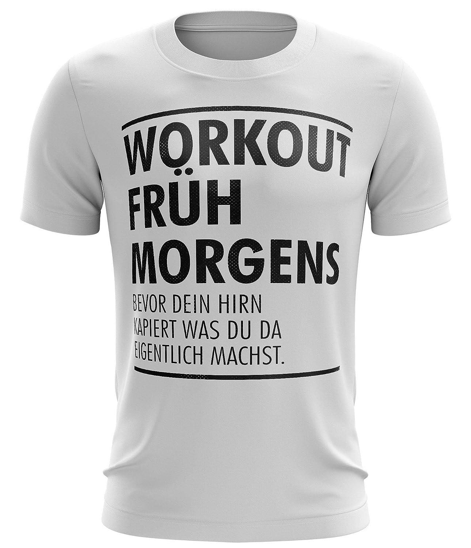 Stylotex Fitness T-Shirt Workout früh am Morgen Funktions-Stoff schnelltrocknend