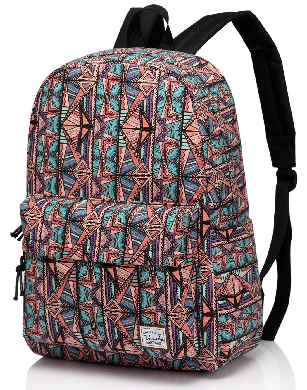 School Backpack for Teen Girls,Fashion Canvas Rucksack BookBag with Padded Laptop Sleeve