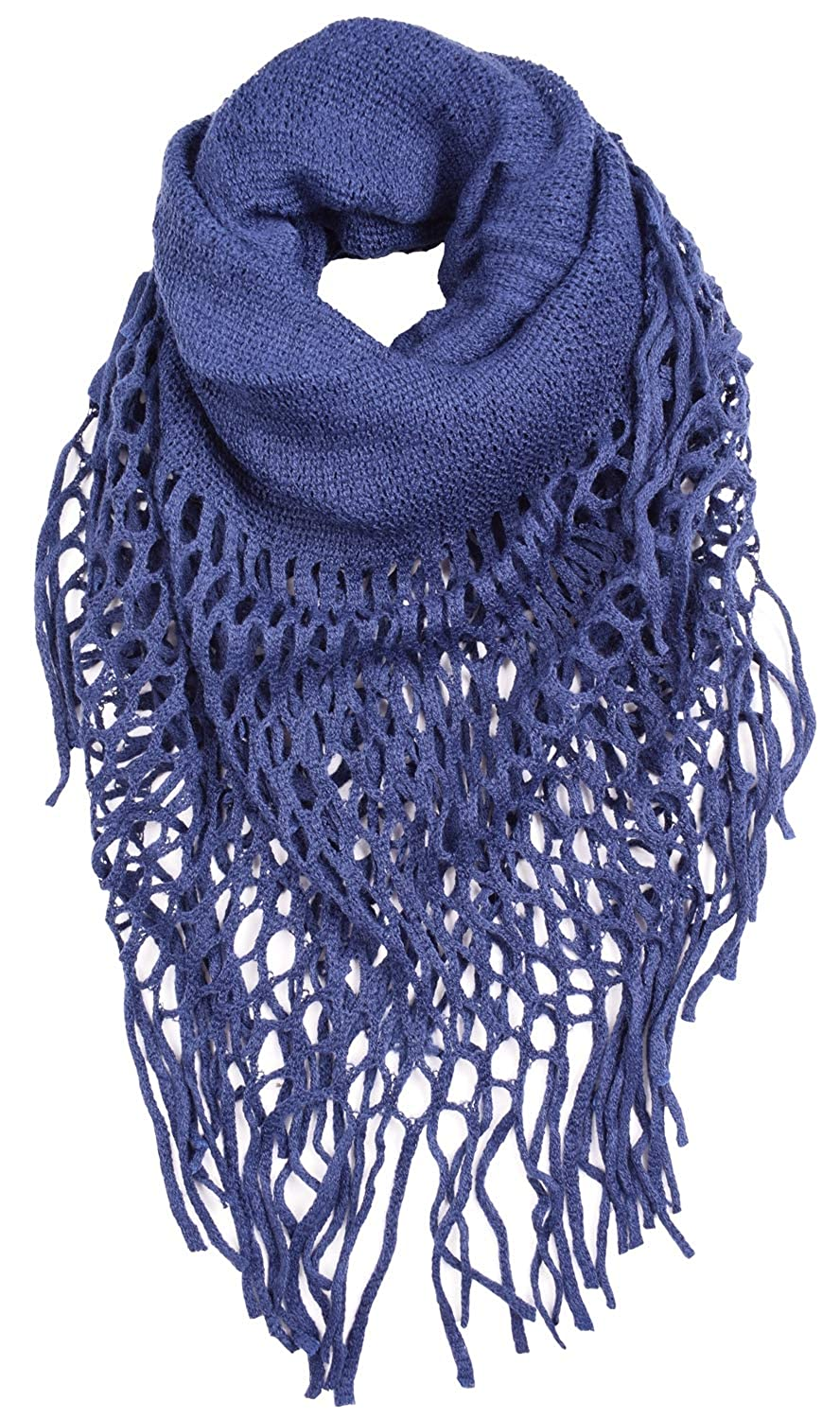 Ceajoo Womens Infinity Scarves Knit Winter Warm With Fringe