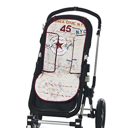 COLCHONETA Funda para silla paseo universal MULTICOLOR, con ojales ...