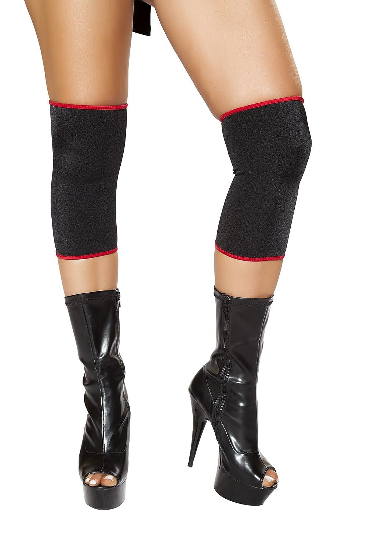 Amazon.com: Sexy Womens Black/Red Ninja Knee Pads Costume ...