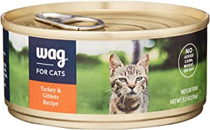 Amazon Brand - Wag Wet Cat Food 3 oz/5.5 oz (Pack of 24)