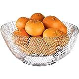 Obstschale Metall Schwarz//Wei/ß Dekorativer Obstkorb Vintage Obst Aufbewahrung F/ür Mehr Vitamine In Ihrem Alltag
