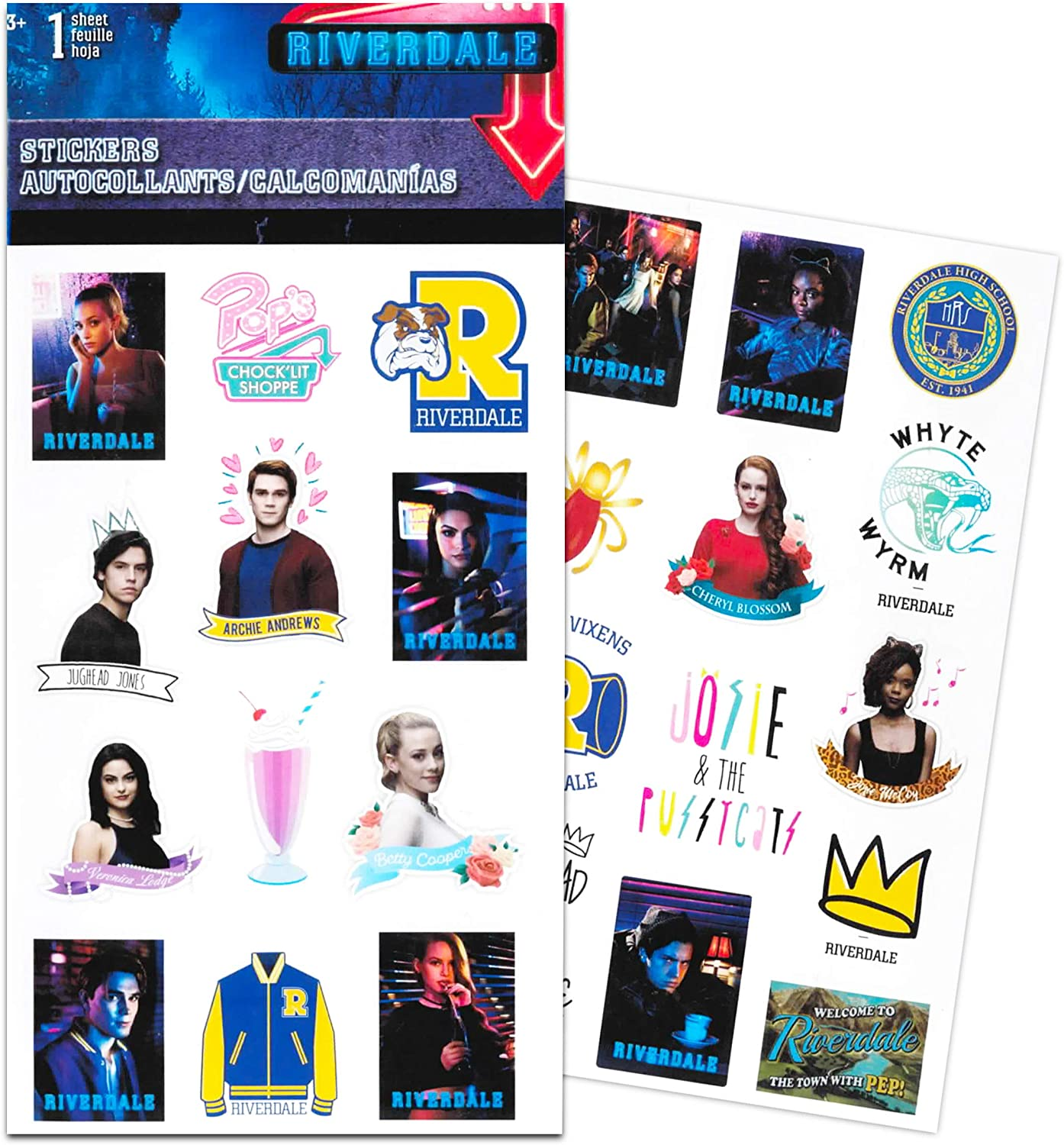 Riverdale Party Supplies 8 Sticker Sheets Riverdale Party Favors Set ~ Bundle Includes 100 Riverdale Stickers