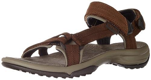 W Terra Fi lite Leather, Zapatillas de Atletismo para Mujer, Marrón (Brown Brn), 38 EU Teva