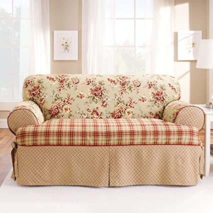 Sure Fit Lexington T Cushion Sofa Slipcover, Multi